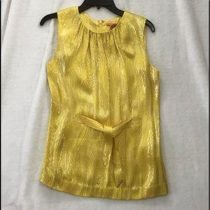 Yellow metallic blouse